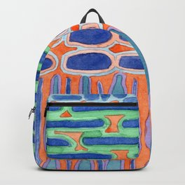 Blue Shapes Pattern Backpack