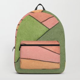 Mountain Sunrise - Watercolor Painting Backpack