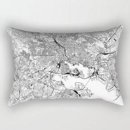 Baltimore White Map Rectangular Pillow