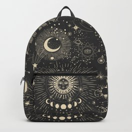 Sun and moon astrology pattern Backpack