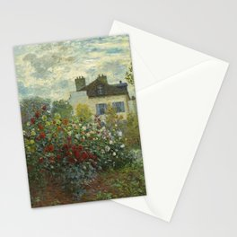 The Artist's Garden in Argenteuil (A Corner of the Garden with Dahlias) by Claude Monet (1873) Stationery Cards