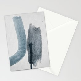 aquarelle meets pencil - blue and black Stationery Cards