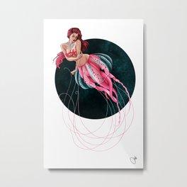 Mauve Stinger Jellyfish Metal Print