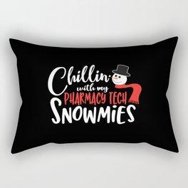 Christmas PT Pharmacy tech technician Rectangular Pillow