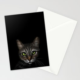 Tabby Cat - Stalking in the Dark Stationery Cards