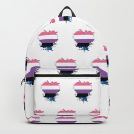 Genderfluid Heart Backpack