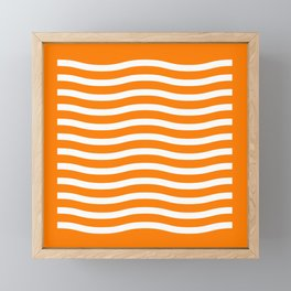 Waving It Wave Stripes Framed Mini Art Print