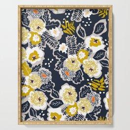 Scandinavian flowers greet you Serving Tray