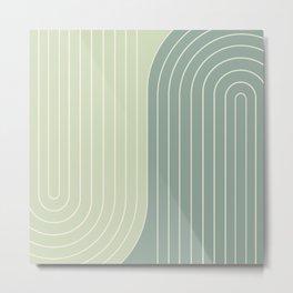 Two Tone Line Curvature XXX Metal Print