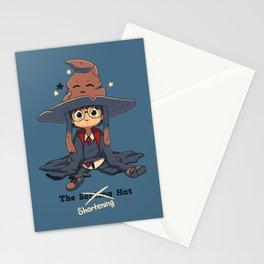 The Shortening Hat // Chibi Wizard, Fantasy, Magic Stationery Cards