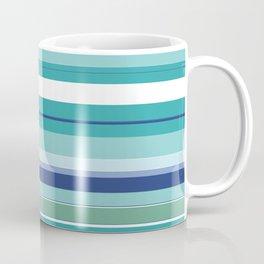 Tropical Blue Stripe|Banana Leaf Coordinate|Renee Davis Coffee Mug