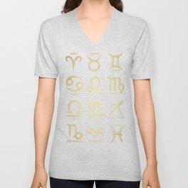 The 12 Zodiac Signs Unisex V-Neck