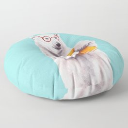 Smart Polar Bear Book Lover Floor Pillow