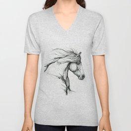 Horse head Unisex V-Neck