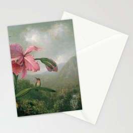Orchid And Hummingbird Near A Mountain Waterfall 1902 By Martin Johnson Heade | Reproduction Stationery Cards