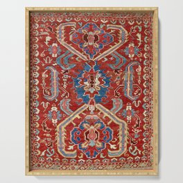 Armenian Manisa Province West Anatolian Dragon Rug Print Serving Tray