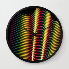 Wave of Light Two Wall Clock