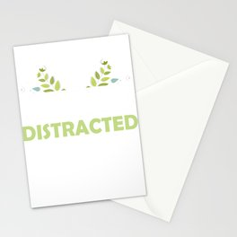 Easily Distracted By Dogs Paw Print Stationery Cards