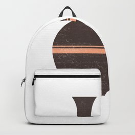 Greek Pottery 31 - Hydria - Terracotta Series - Modern, Contemporary, Minimal Abstract - Seal Brown Backpack