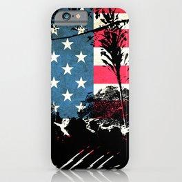 American Flag Foliage iPhone Case