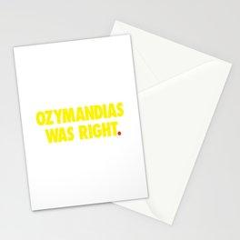 Ozymandias Was Right Stationery Cards