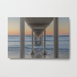 Under the Ocean Beach Pier, San Diego, CA Metal Print