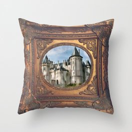 saumur chateau Throw Pillow