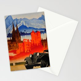 deco Germany Motoring Art Deco Car Ludwig Hohlwein Stationery Cards
