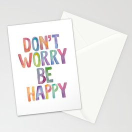 Don't Worry Be Happy Stationery Cards