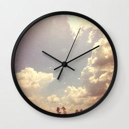 Summer Skies As Vintage Album Art Wall Clock