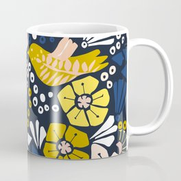 Blue wellness garden - florals matching to design for a happy life Coffee Mug