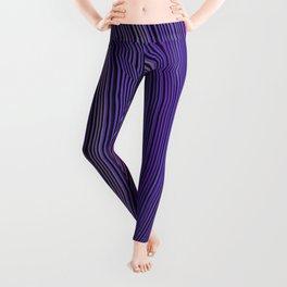curve ribbon pattern purple Leggings