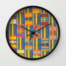 African pattern. Wall Clock