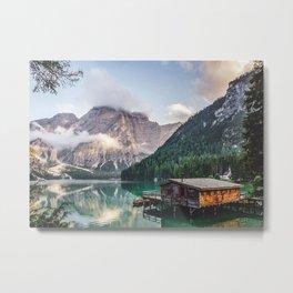 Boathouse On The Lake Metal Print