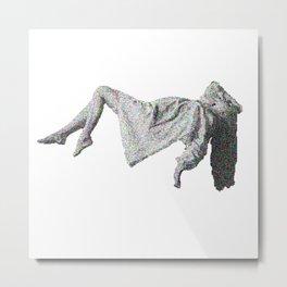 Fuzzy Levitation Metal Print
