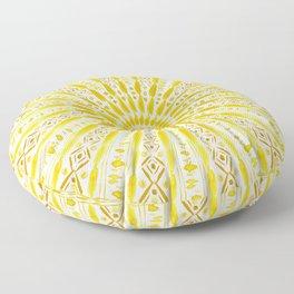 SUN WORSHIP Yellow Mandala Floor Pillow