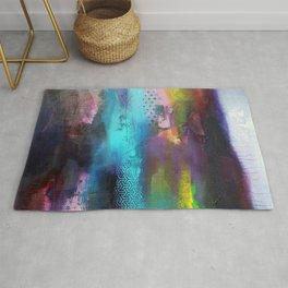 Aurore Boreal 'série Footprint' Rug