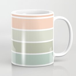 70s Stripe - pastel pink and mint, spring, pink stripes, desert, boho, dorm decor Coffee Mug