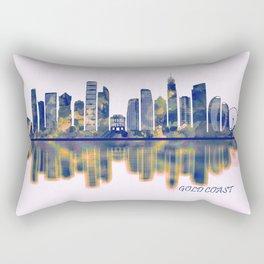 Gold Coast Skyline Rectangular Pillow
