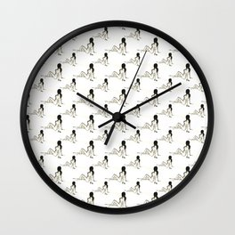 Relaxed Lady Repeating Pattern Wall Clock