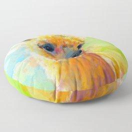 Colorful Happiness - Alpaca digital painting Floor Pillow