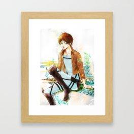 Blue Melody Framed Art Print