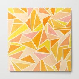 Apricot Triangles Metal Print
