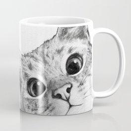 sneaky cat Kaffeebecher