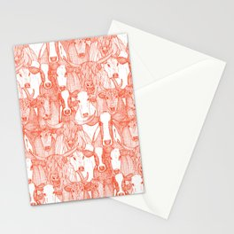 just cattle flame white Stationery Cards