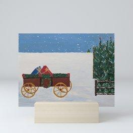 Christmas Scene Print Mini Art Print