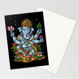 Ganesha Hindu Psychedelic Elephant God Stationery Cards