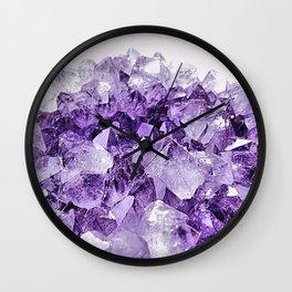 Amethyst Cluster Wall Clock