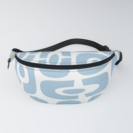 Mid Century Modern Cosmic Abstract 241 Light Blue Fanny Pack