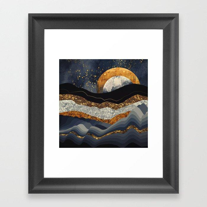 Metallic Mountains Gerahmter Kunstdruck